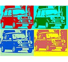 Cool Austin Mini Pop Art Photographic Print