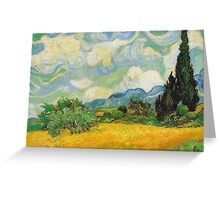 Vincent Van Gogh - Wheat Fields with Cypress Greeting Card