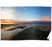 Holy Island Sunset Poster