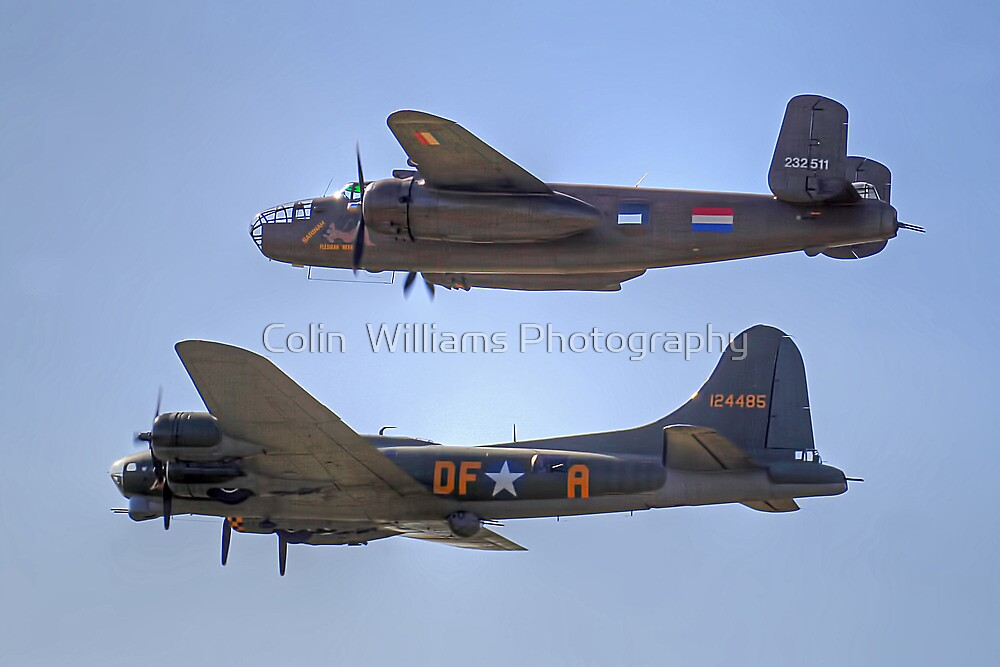 "B-25J Mitchell And B17 ""Sally B"" - Shoreham 2013 by Colin  Williams Photography"