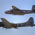 "B-25J Mitchell And B17 ""Sally B"" - Shoreham 2013 by Colin J Williams Photography"