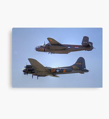 "B-25J Mitchell And B17 ""Sally B"" - Shoreham 2013 Canvas Print"