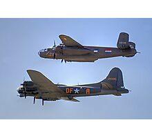 """B-25J Mitchell And B17 """"Sally B"""" - Shoreham 2013 Photographic Print"""