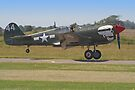 Curtiss P-40M Kittyhawk Touchdown - Shoreham 2013 by Colin  Williams Photography