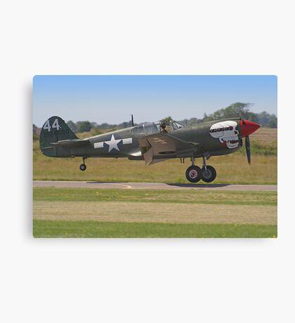 Curtiss P-40M Kittyhawk Touchdown - Shoreham 2013 Canvas Print