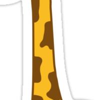 Funny funny cartoon cartoon giraffe Sticker