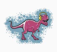 t-rex dinosaur with headphones by Toonstyle.com Yury Shchipakin