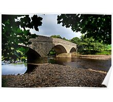 Bridge Over The River Swale Poster
