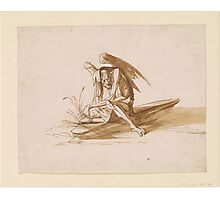 Benjamin West Sketch of a Female Demon Photographic Print