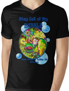 Stay Out of My Bubble (Alternate) Mens V-Neck T-Shirt