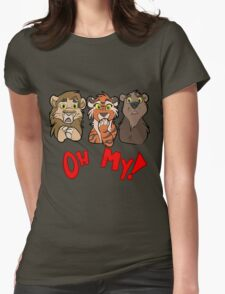 Lions and Tigers and Bears, Oh My!  Womens Fitted T-Shirt