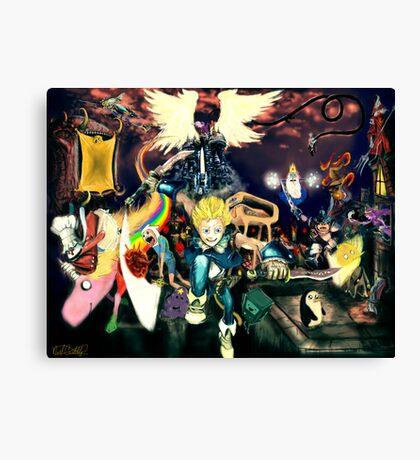 Final Fantasy Adventure Time! Canvas Print