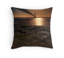 The Humber Bridge Throw Pillow