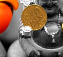 Buddha with coins Sticker