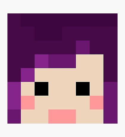 iHasCupquake Minecraft Oasis Skin Photographic Print
