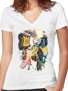 Final Fantasy Adventure Time! Women's Fitted V-Neck T-Shirt
