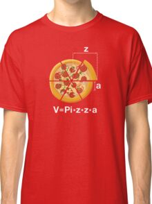 V=Pi*z*z*a. Funny and Geeky Pizza Classic T-Shirt