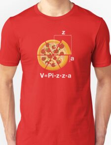V=Pi*z*z*a. Funny and Geeky Pizza Unisex T-Shirt
