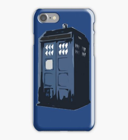 The BLUE Police Box - Tardis iPhone Case/Skin