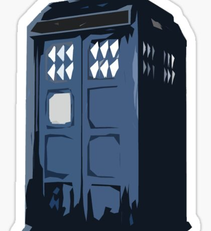 The BLUE Police Box - Tardis Sticker
