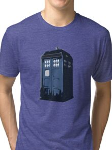 The BLUE Police Box - Tardis Tri-blend T-Shirt