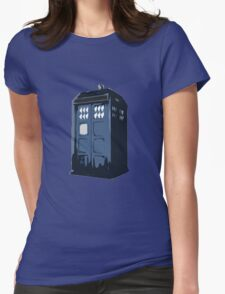The BLUE Police Box - Tardis Womens Fitted T-Shirt