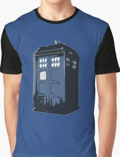 The BLUE Police Box - Tardis Graphic T-Shirt