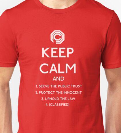 Robocop, Keep Calm Directives OCP (white) Unisex T-Shirt