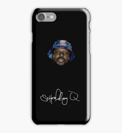 Wavy SchoolBoy Q with signature iPhone Case/Skin