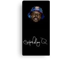 Wavy SchoolBoy Q with signature Canvas Print