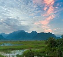 The Pitt River and Coast Mountains by Michael Russell
