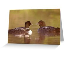 """Ahh…a-loon at last"" - Common Loon Greeting Card"