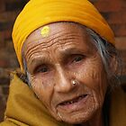Aged and wise, Kathmandu, Nepal by indiafrank