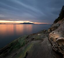 Sunset at Larrabee State Park by Michael Russell