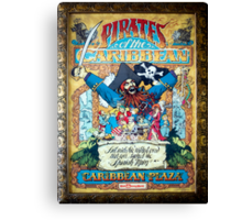 Pirates of the Caribbean Ride Canvas Print