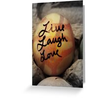 Live Laugh Love & Happy Easter Greeting Card