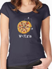 Math Pizza Humor Women's Fitted Scoop T-Shirt