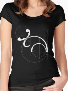 Vitruvian Moose (dark side) Women's Fitted Scoop T-Shirt
