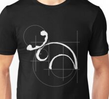 Vitruvian Moose (dark side) Unisex T-Shirt