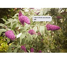 Summer texts Photographic Print