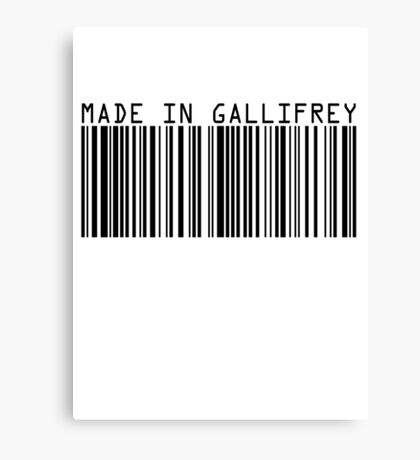 Made In Gallifrey Canvas Print
