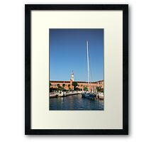 Yacht In Venice Framed Print
