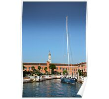 Yacht In Venice Poster