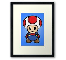 Mario Toad Framed Print