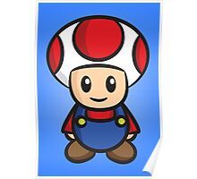 Mario Toad Poster