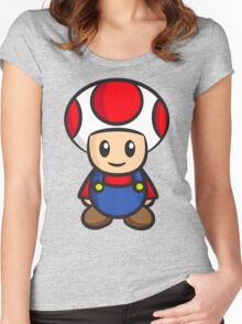 Mario Toad Women's Fitted Scoop T-Shirt