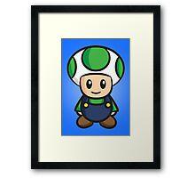 Luigi Toad Framed Print