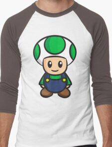 Luigi Toad Men's Baseball ¾ T-Shirt