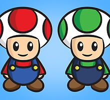 Super Mario Toads (without writing) by Lauramazing