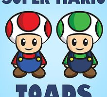 Super Mario Toads (with writing) by Lauramazing